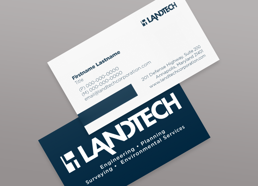 Landtech Business Cards