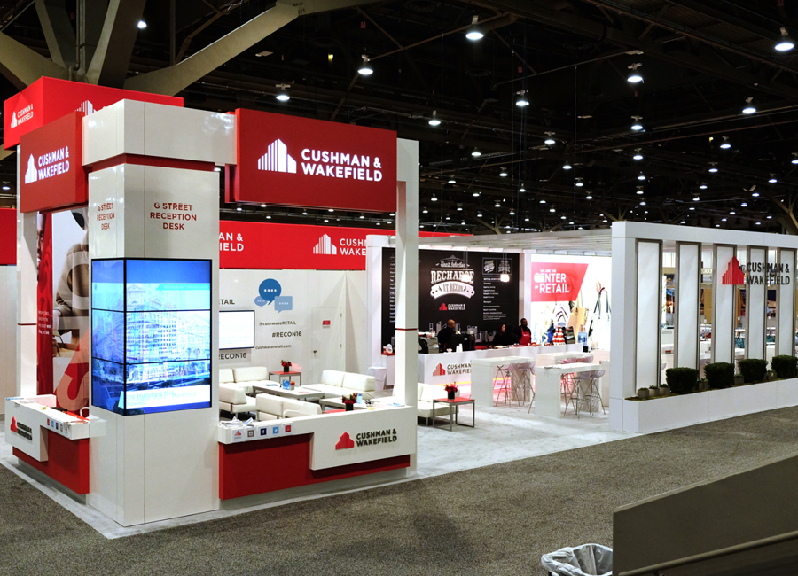 CW ICSC Trade Show Booth Angle 2