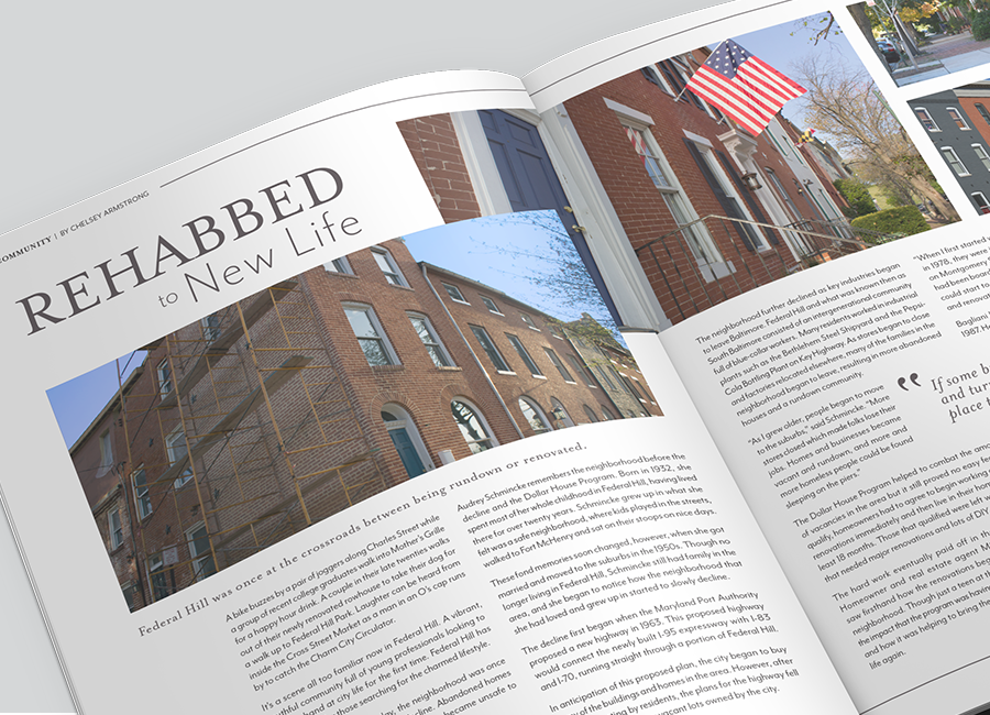 federal hill magazine spread